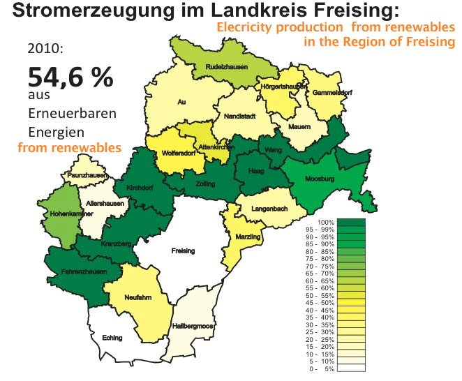 Freising Germany Map.Go 100 Renewable Energy Region Of Freisinger Land